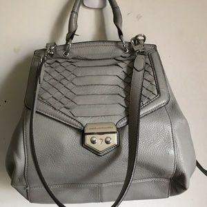 Aimee Kestenberg Grey Flap Bag With Silver Metal H